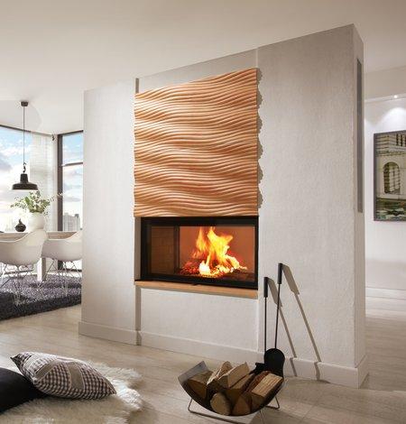 Der Heizkamin erwärmt den Raum effizient und sparsam.
