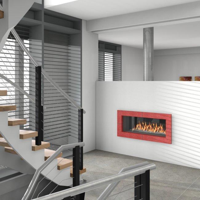 Der Durchsicht-Gaskamin mit moderner Technik bietet eine angenehme und umweltfreundliche Wärme.