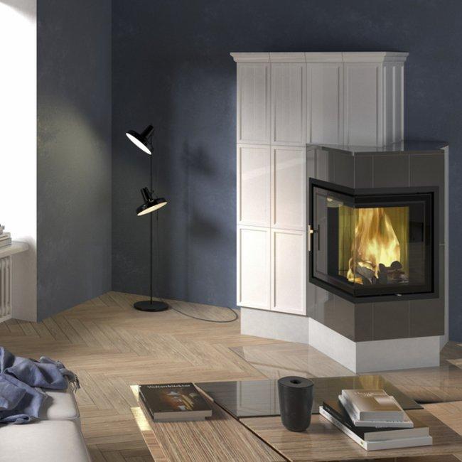 Die Farbe der Ofenkeramik bringt das Flammenspiel in einem Heizkamin, Kachelofen und Kaminofen noch besser zur Geltung.