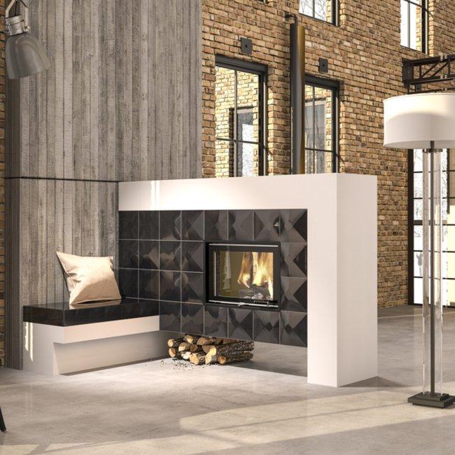 Moderne Ofenkeramik verleiht Heizkaminen, Kaminöfen und Kachelöfen ein persönliches Flair.