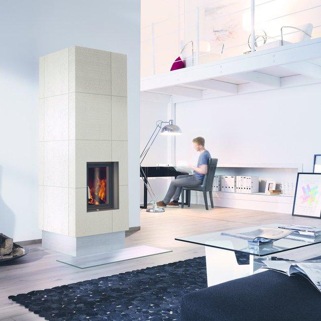 Moderne Holzfeuerstätten sind ideale Wärmegeber in Niedrigenergiehäusern.