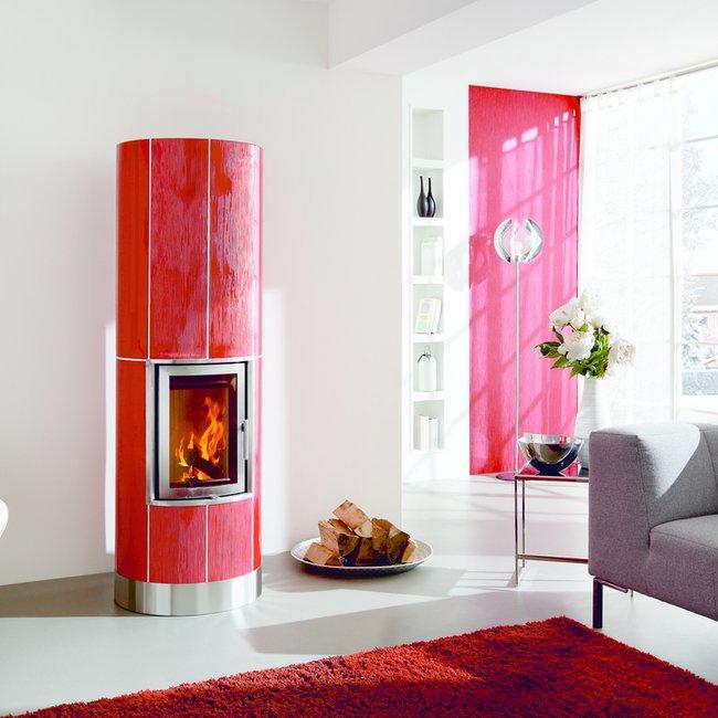 Moderne Holzfeuerstätten sind ideal für gut gedämmte Gebäude.