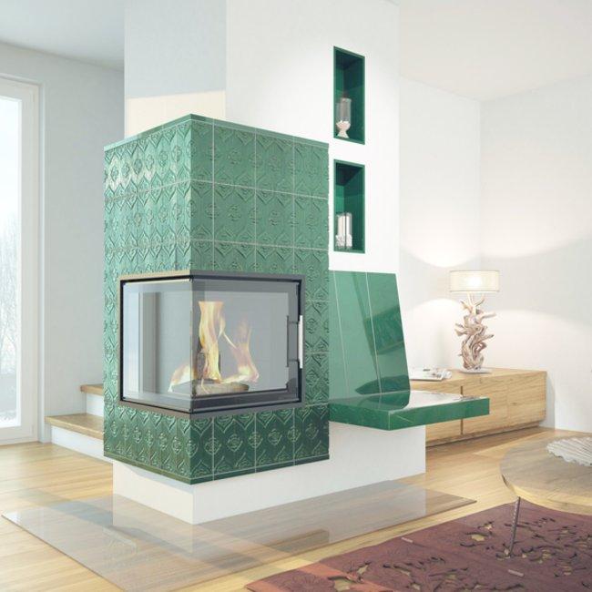 Moderne Holzfeuerstätten heizen CO2-neutral und sind damit umweltfreundlich.