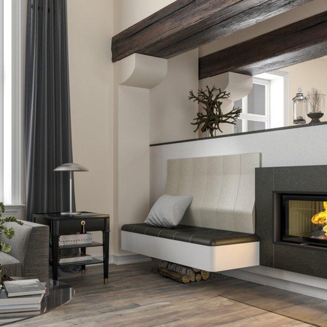 Moderne Holzfeuerstätten bringen ein Lagerfeuer-Gefühl in den Raum.