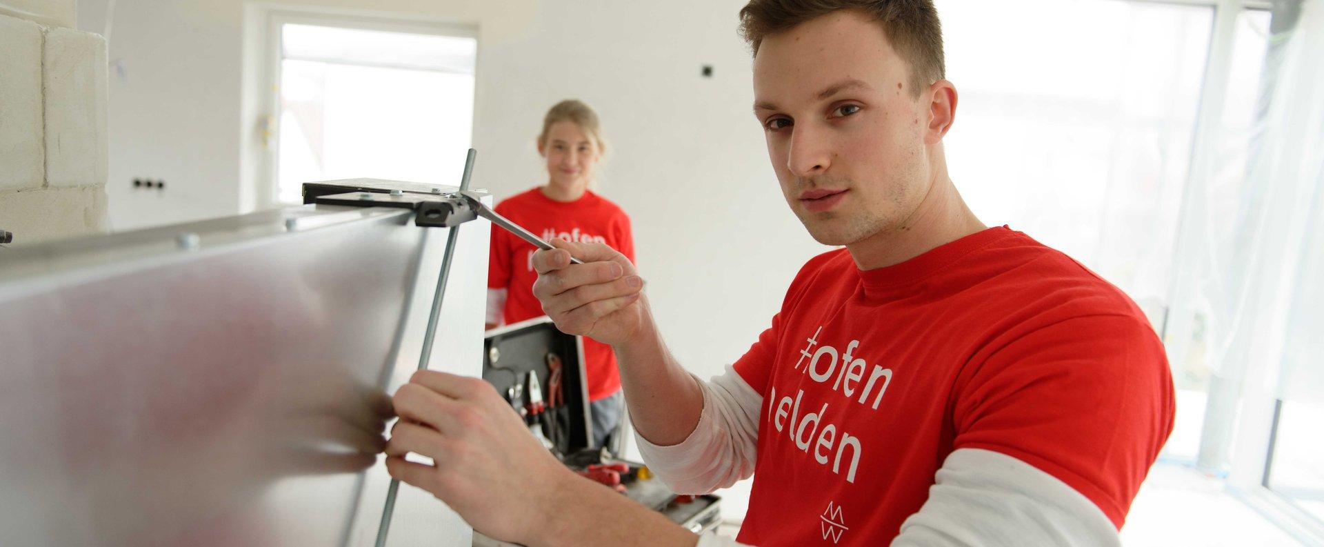 Die Ausbildungskampagne #ofenhelden unterstützt Ofenbauer bei der Suche nach Nachwuchskräften.