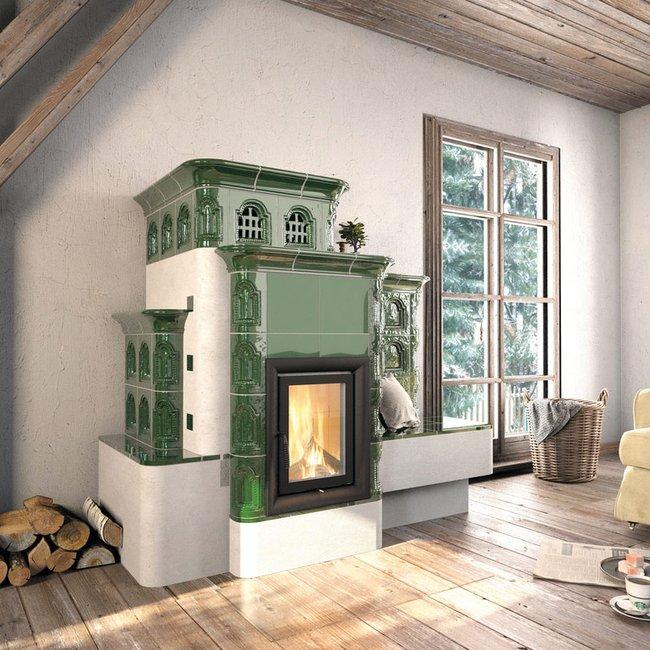 Die Grundofen versorgt den Raum mit einer langhaltenden, gleichmäßigen Wärme.