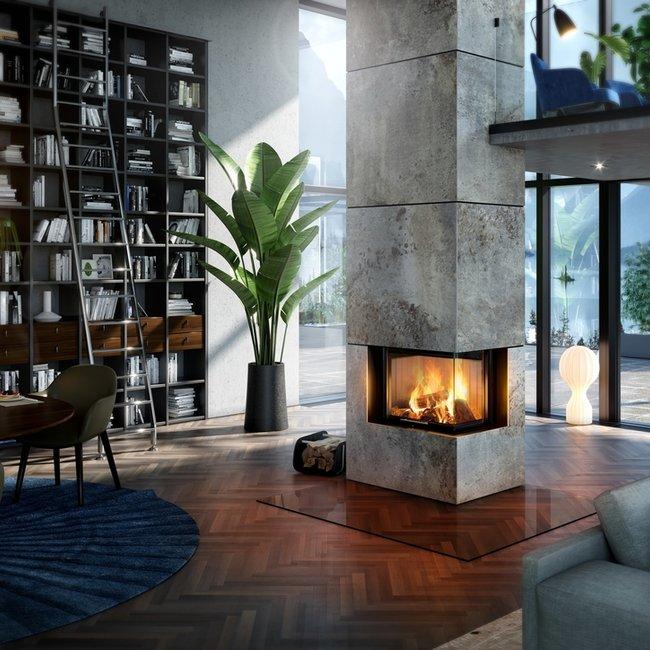 Moderne Holzfeuerstätten sind emissionsarm und CO2-neutral.