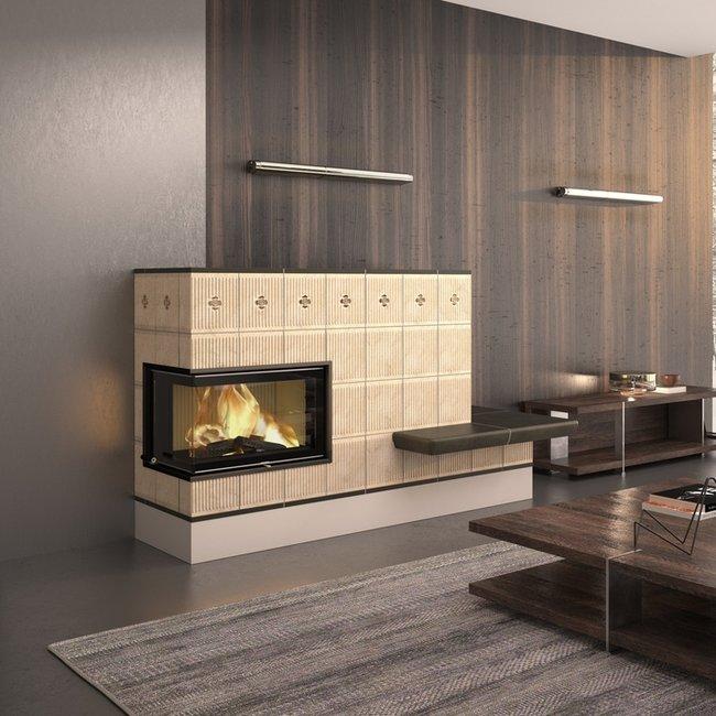 Eine eindrucksvolle Ofenkeramik macht Heizkamine, Kaminöfen und Kachelöfen zu einem aboluten Blickfang.