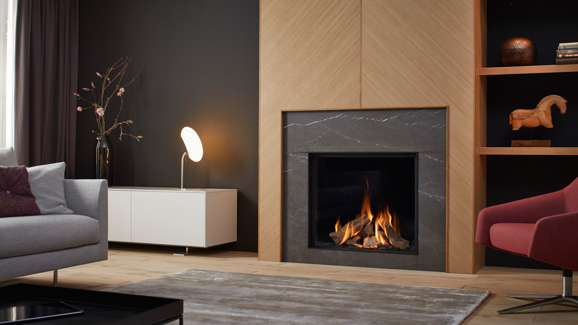 wirtschaftlichkeit mit komfort der gasbefeuerte heizkamin. Black Bedroom Furniture Sets. Home Design Ideas