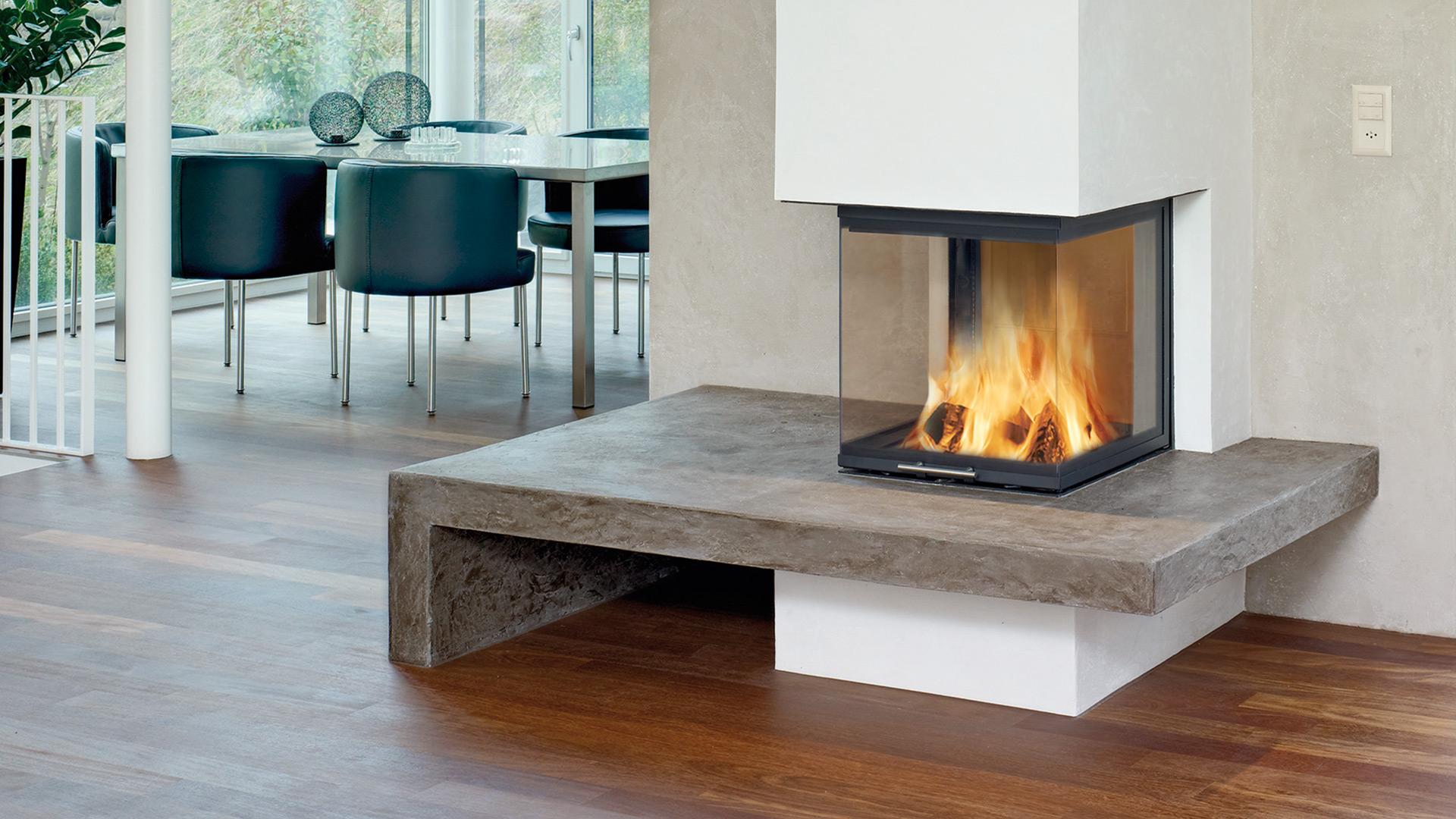 Moderne feuerstelle der heizkamin for Modern moderne luxus kamine