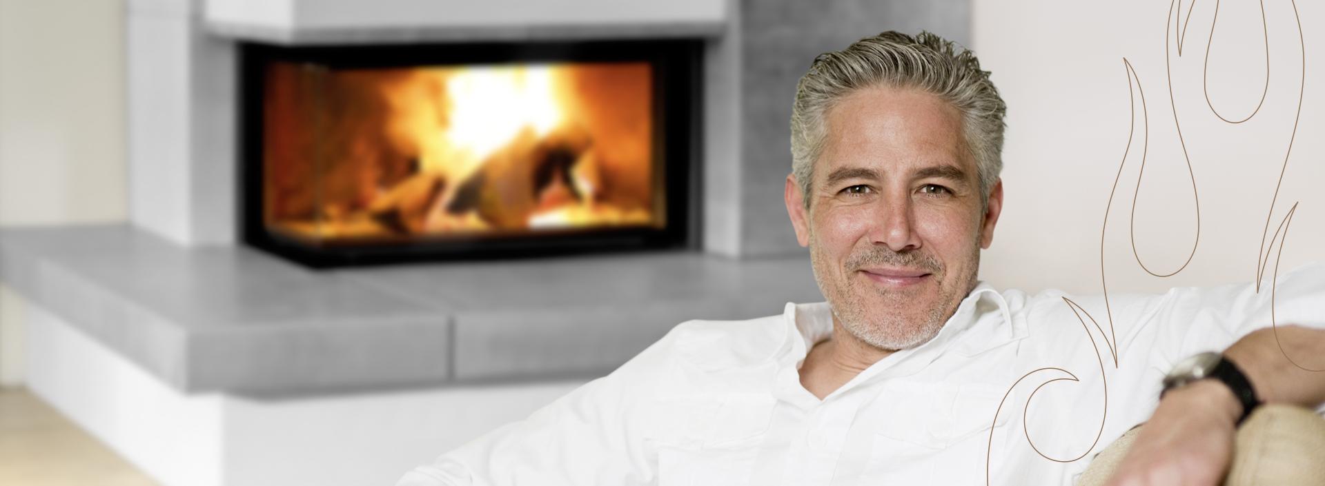 Faszination Feuer - belebt durch einen Heizkamin, Kachelofen oder Kaminofen.